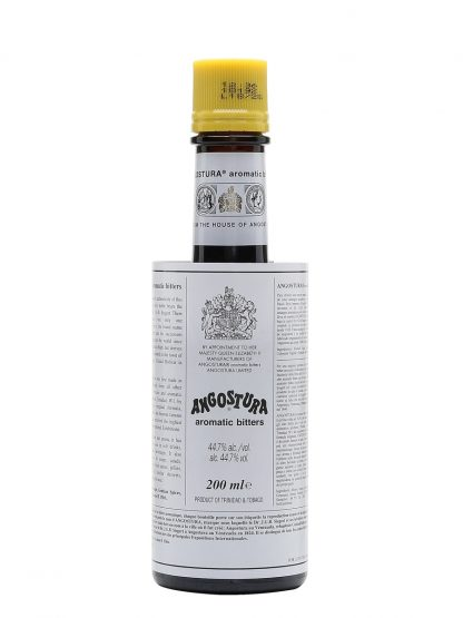 A bottle of Angustora Aromatic Bitters