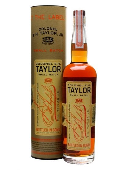 A bottle of Colonel EH Taylor Small Batch Bourbon