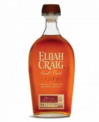 A bottle of Elijah Craig, Small Batch Bourbon