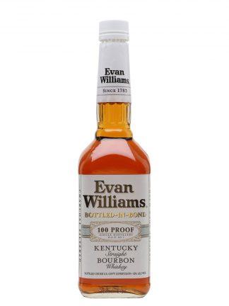 Evan Williams White Label Bourbon Boltled in Bond