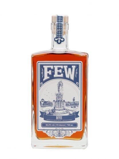 A bottle of FEW Rye Whiskey