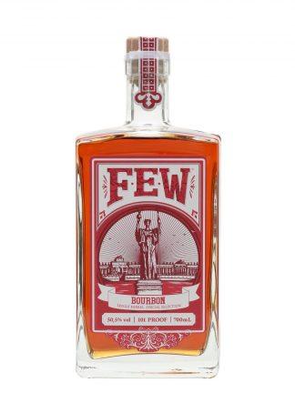 A bottle of FEW Single Barrel Bourbon