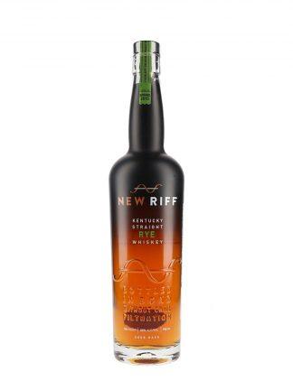 A bottle of New Riff Straight Rye Bottled in Bond