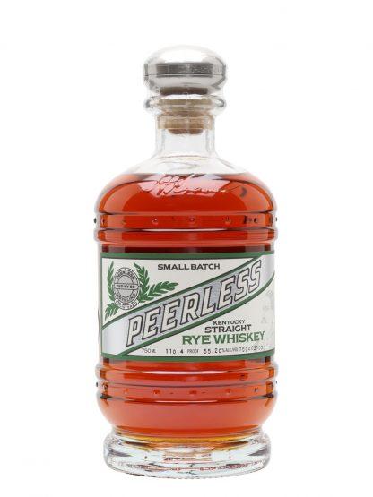 A bottle of Kentucky Peerless Small Batch Straight Rye Whiskey