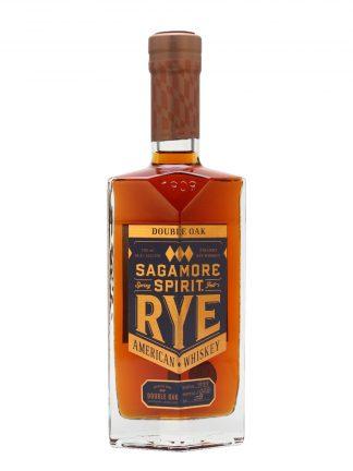 A bottle of Sagamore Spirit Double Oak Straight Rye Whiskey