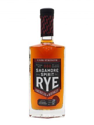A bottle of Sagamore Spirit Cask Strength Rye Whiskey