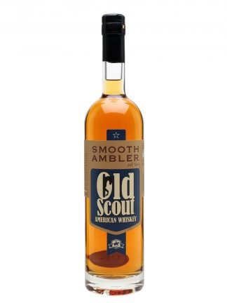 A bottle of Smooth Ambler Old Scout American Whiskey
