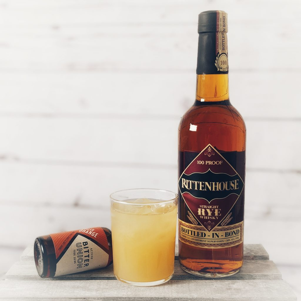 Apple Sour Cocktail made with Rittenhouse Bottled in Bond Straight Rye Whiskey