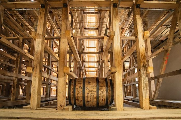 First barrel to be laid in Barton 1992's new warehouse