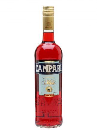 A bottle of Campari bitter