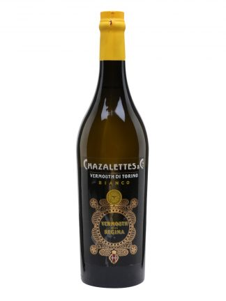 A botlle of Chazalettes Bianco della Regina Vermouth