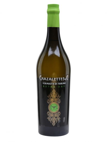 A bottle of Chazalettes Extra Dry Vermouth