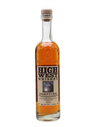 A bottle of High West Campgire Whiskey