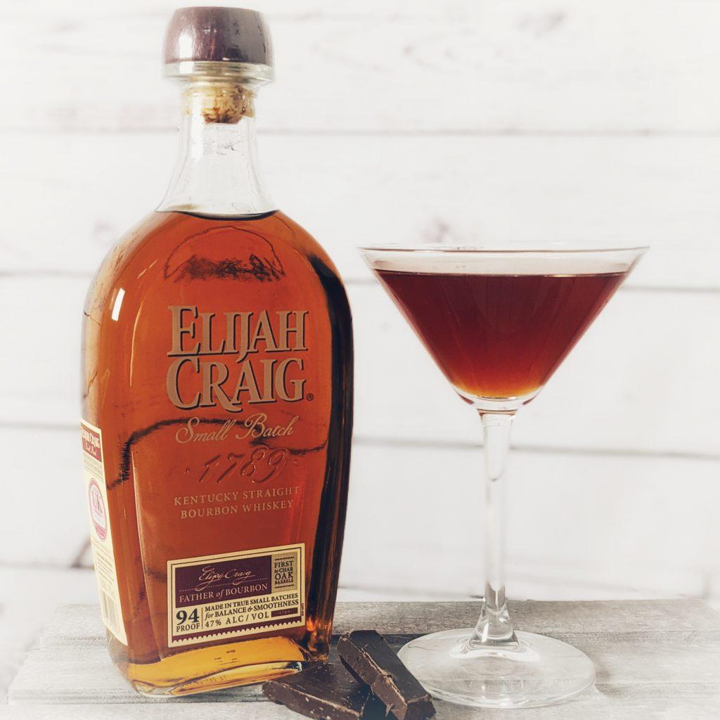 A Liquid Bourbon Ball Cocktail made with Elijah Craig Small Batch Bourbon Whiskey