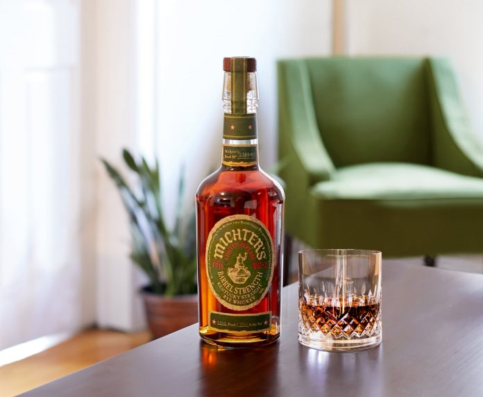 A bottle of the , soon to be released, Michter's Barrel Strength Rye