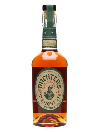 A bottle of Michters US*1 Single Barrel Straight Rye Whiskey