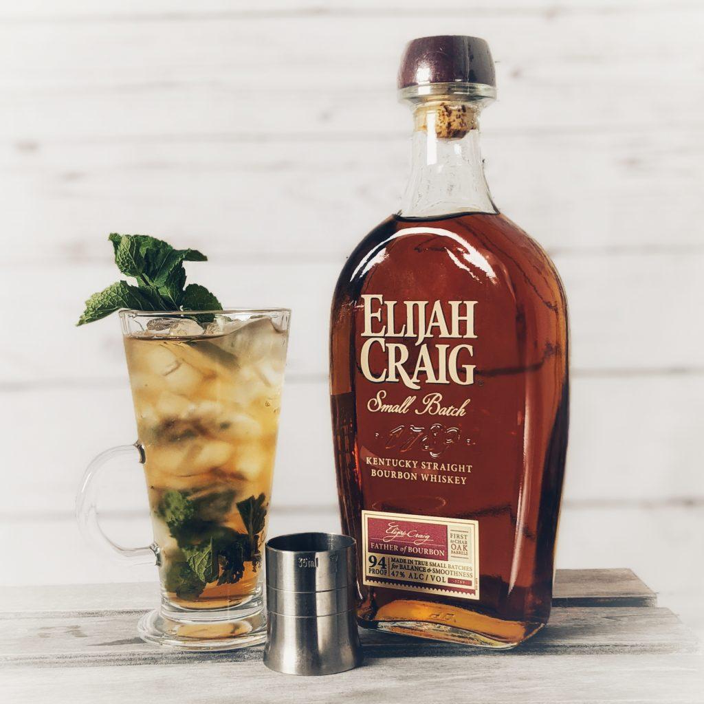 A Mint Julep Cocktail made with Elijah Craig Small Batch Bourbon Whiskey
