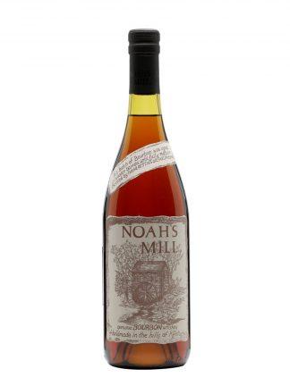 A bottle of Noah's Mill Bourbon Whiskey