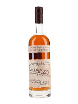 A bottle of Rowan's Creek Small Batch Kentucky Straight Bourbon