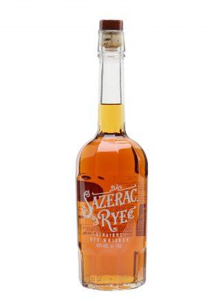 A bottle of Sazerac Straight Rye Whiskey