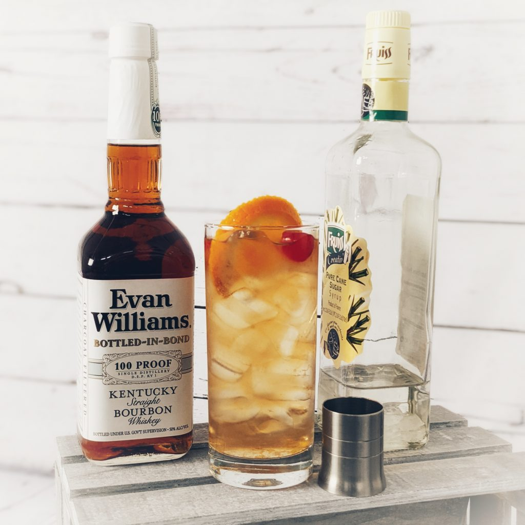 A John Collins Cocktail and its components