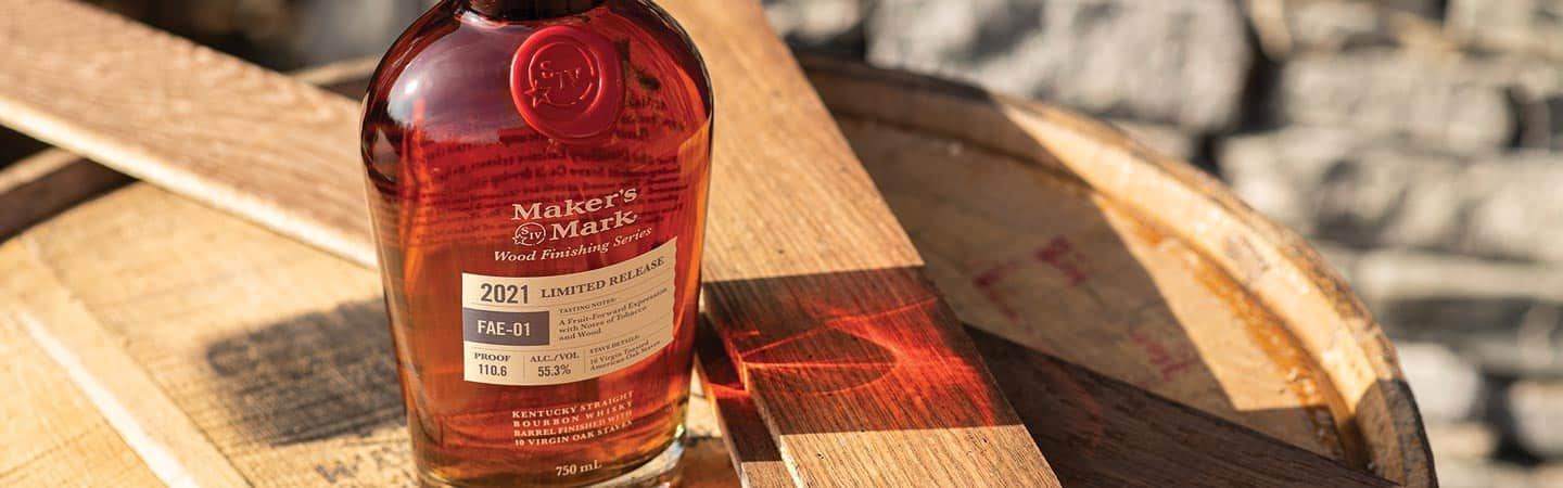 A soon to be released bottle of Makers Mark FEA -01