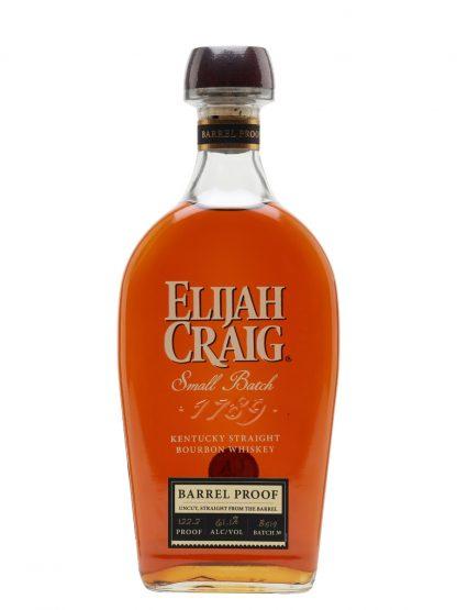 A bottle of Elijah Craig Barrel Proof B519