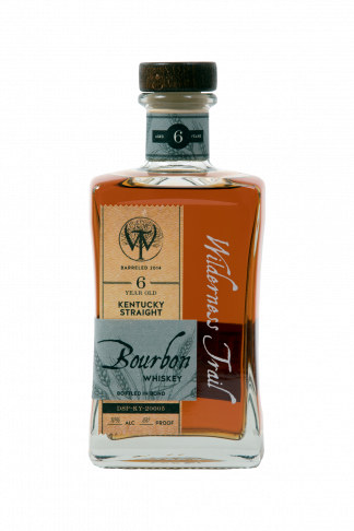 A bottle of Wilderness Trail 6 year old Bourbon Whiskey